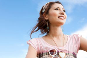 young-woman-against-blue-sky-